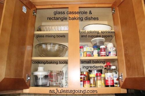 Baking Cabinet Organization