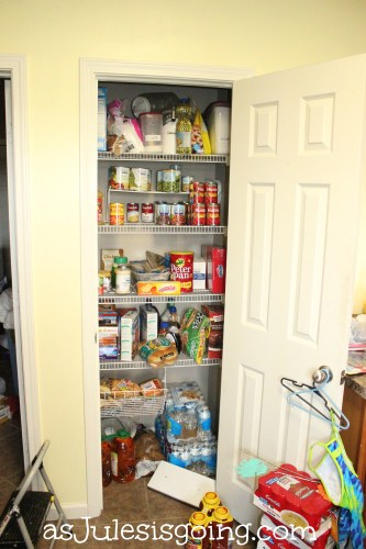 Full Pantry Full on the wire shelving