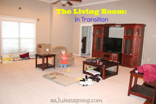 Living Room in transition