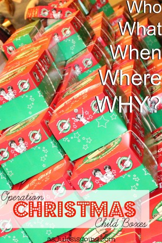 History of Operation Christmas Child boxes