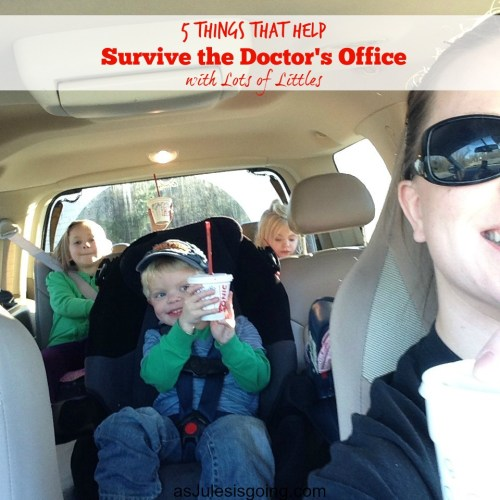 5 Things that Help  Survive the Doctor's Office  with Lots of Littles 6 Bribery