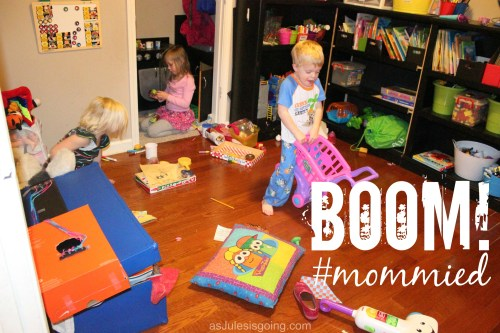 BOOM! #mommied Monday Playroom Cleaning