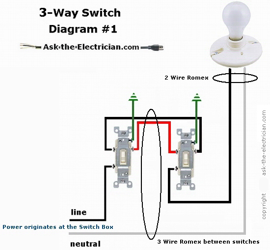 3 way switch 2 lights wiring diagram origami eagle instructions how to wire three switches part 1 switching