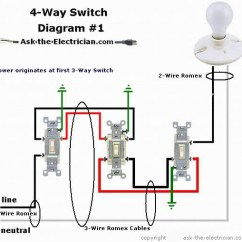 Three Lights One Switch Wiring Diagram 97 Grand Cherokee Radio How To Wire A 4 Way Switching