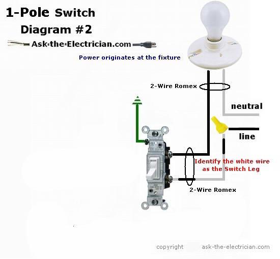 diagram cooper wiring diagram single pole light switch full