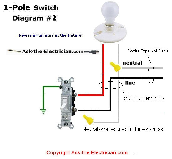 single pole switch diagram 2 how to wire two