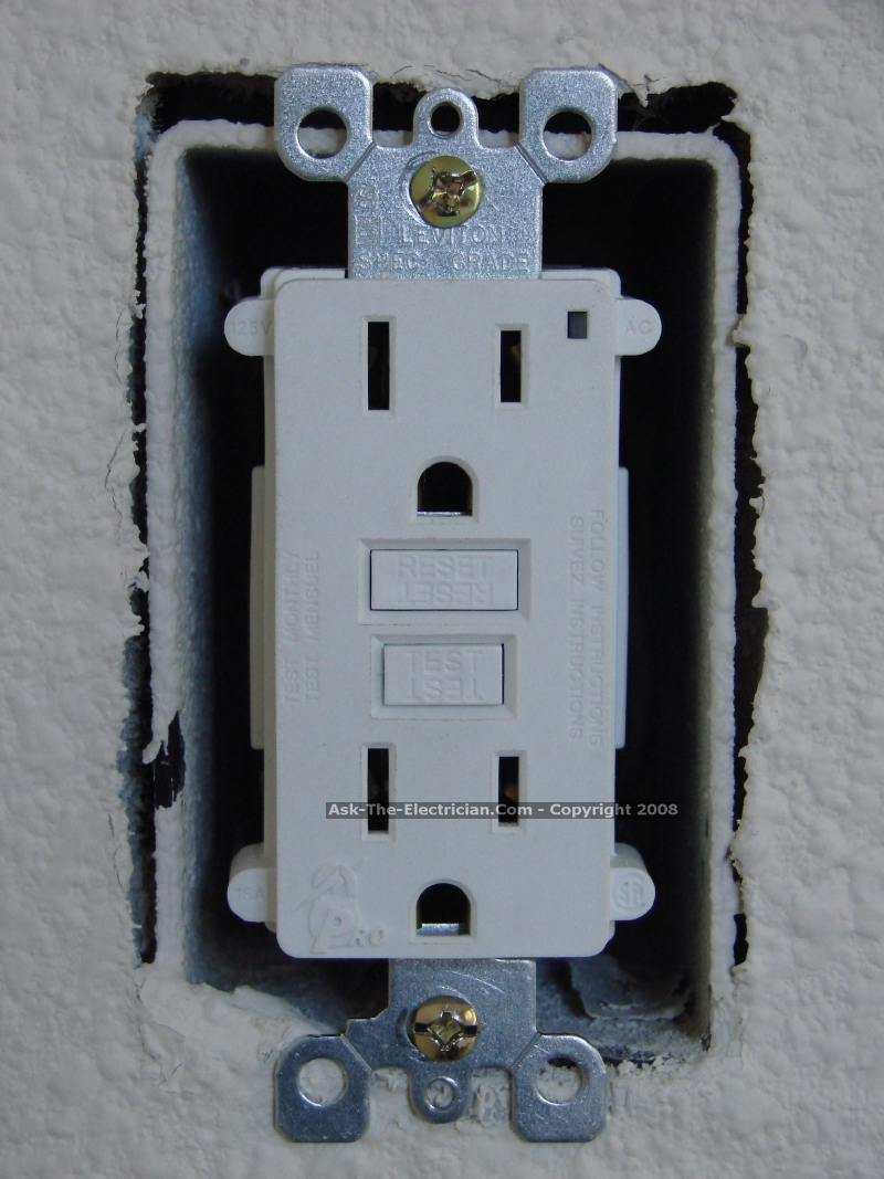 medium resolution of fold the wires carefully back inside the receptacle box and install the gfci receptacle