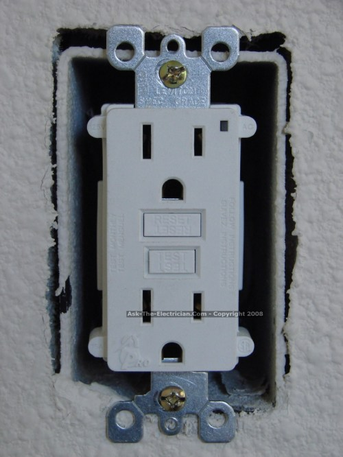 small resolution of fold the wires carefully back inside the receptacle box and install the gfci receptacle