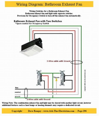 wiring bathroom light and fan exhaust fan wiring diagram wire a bathroom light exhaust fan furniture design exhaust