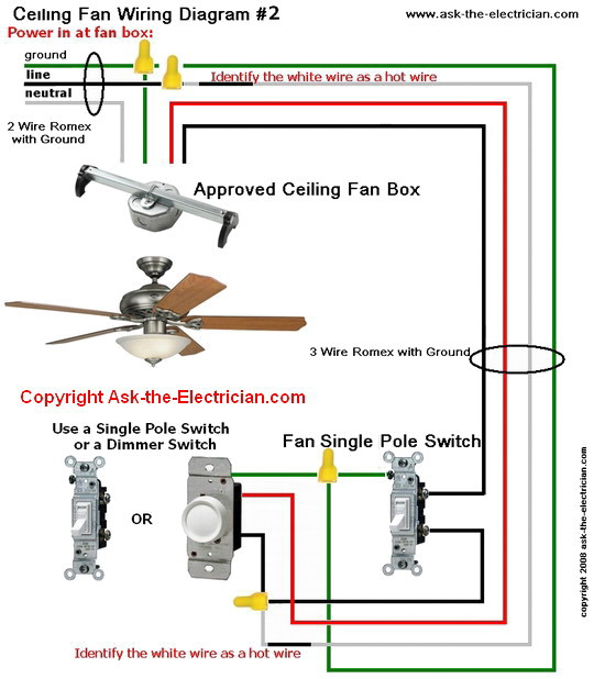 ceiling fan wiring diagram separate switches plug wire #2