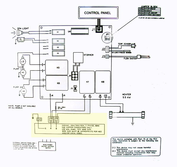 hot tub diagram 600 HL hot tub wiring diagram jacuzzi hot tub wiring diagram at crackthecode.co