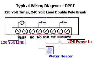 water heater timer wiring diagram 30 amp disconnect how to wire a control time clock