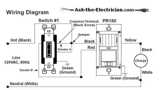 wall mount motion sensor light switch wiring diagram  1985