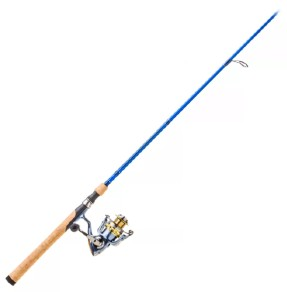 Fishing tackle Pflueger president reel and bass pro rod