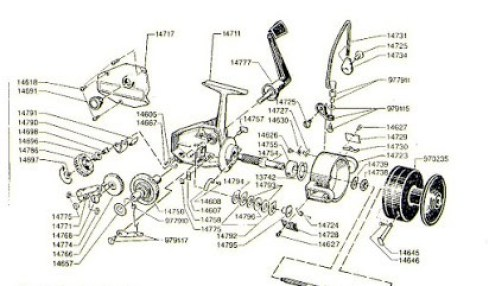 fishing reels have many small parts
