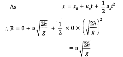 for angular projection given to a projectile find the