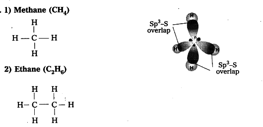 Prepare models of methane, ethane, ethene and ethyne