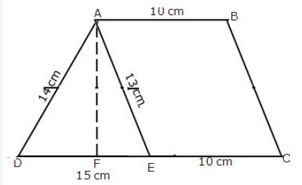 Find the height of the trapezium in which parallel sides