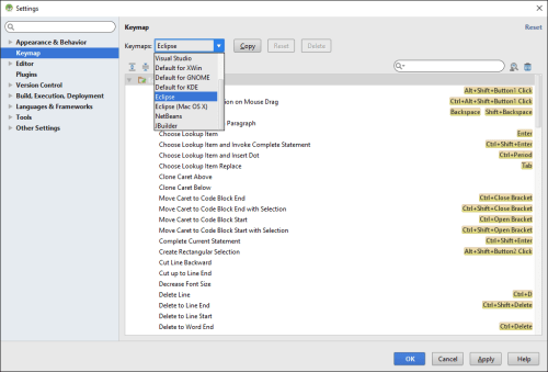 android-studio-setting-screen-keymap