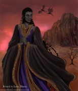 The immortal Lord Daskesurul, one of the characters from my epic fantasy saga, The Immortals of Askamar Louisa Watson