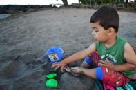 Shishir on the sand