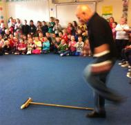 Paddy Wade, Askamore set dancing tutor, doing the Brush Dance (4)