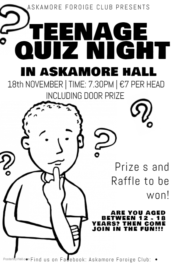 Foróige Quiz for Teenagers