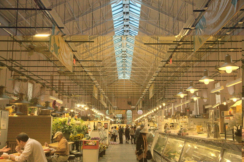 Inside the Eastern Market hall