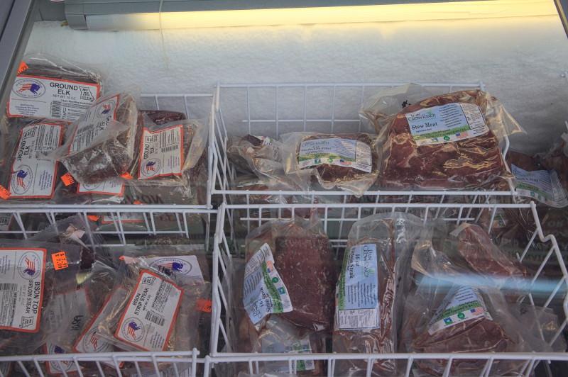 Elk & bison meat