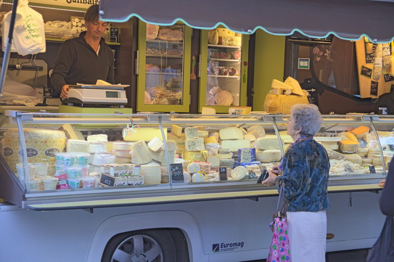 One of the cheese stalls