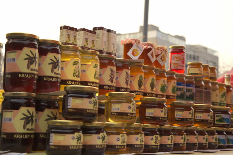 There is always honey at the Zagreb markets