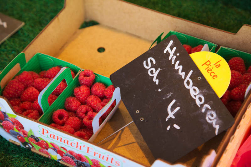 French raspberries come at a price