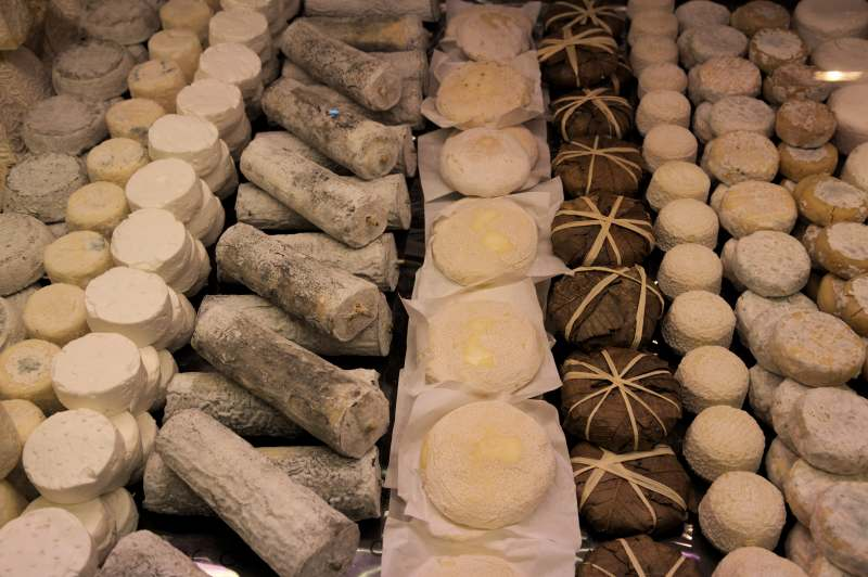 A selection of cheese with one of my favourites: Banon