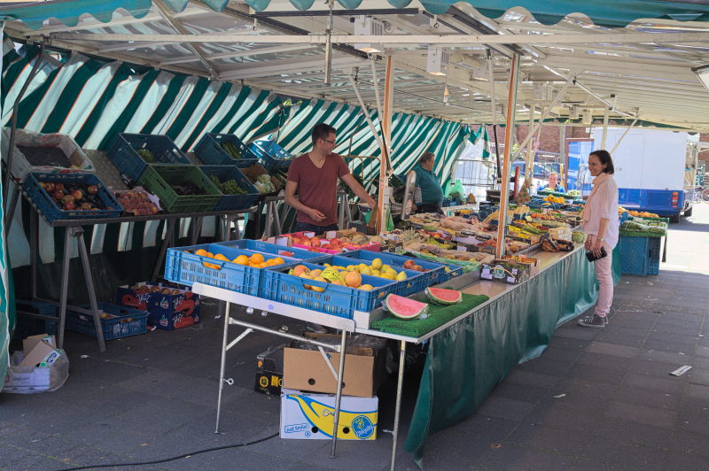 The fruit & veggie stall
