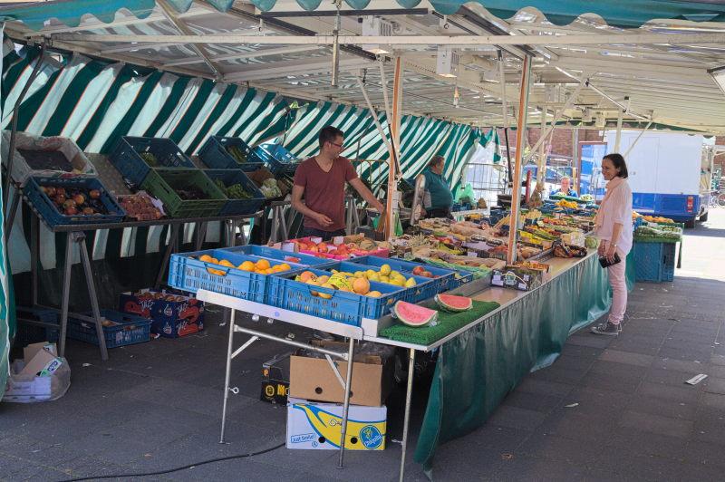 The fruit & veggie stall