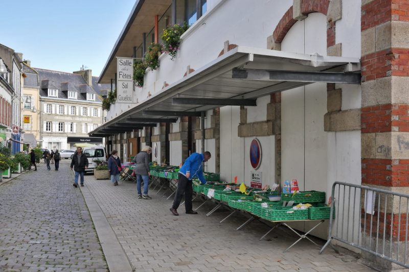 Market hall in Douarnenez, Bretagne / France