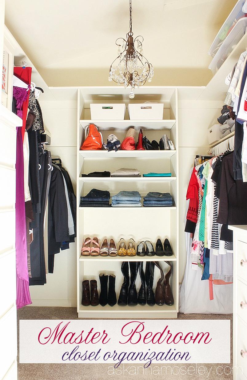 Master Bedroom Closet Organization  Ask Anna