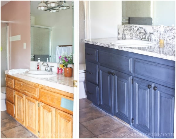 Painting Bathroom Cabinets with Chalkworthy  Ask Anna