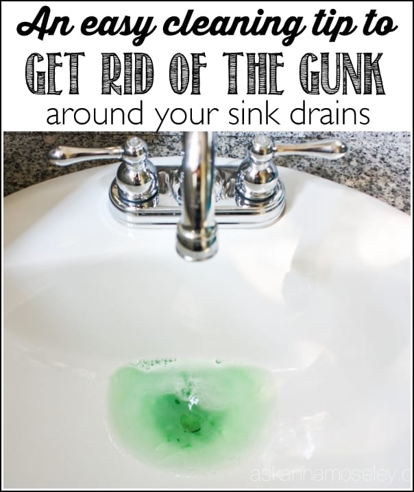 how to organize my kitchen aid pro 600 clean the gunk around sink drain - ask anna
