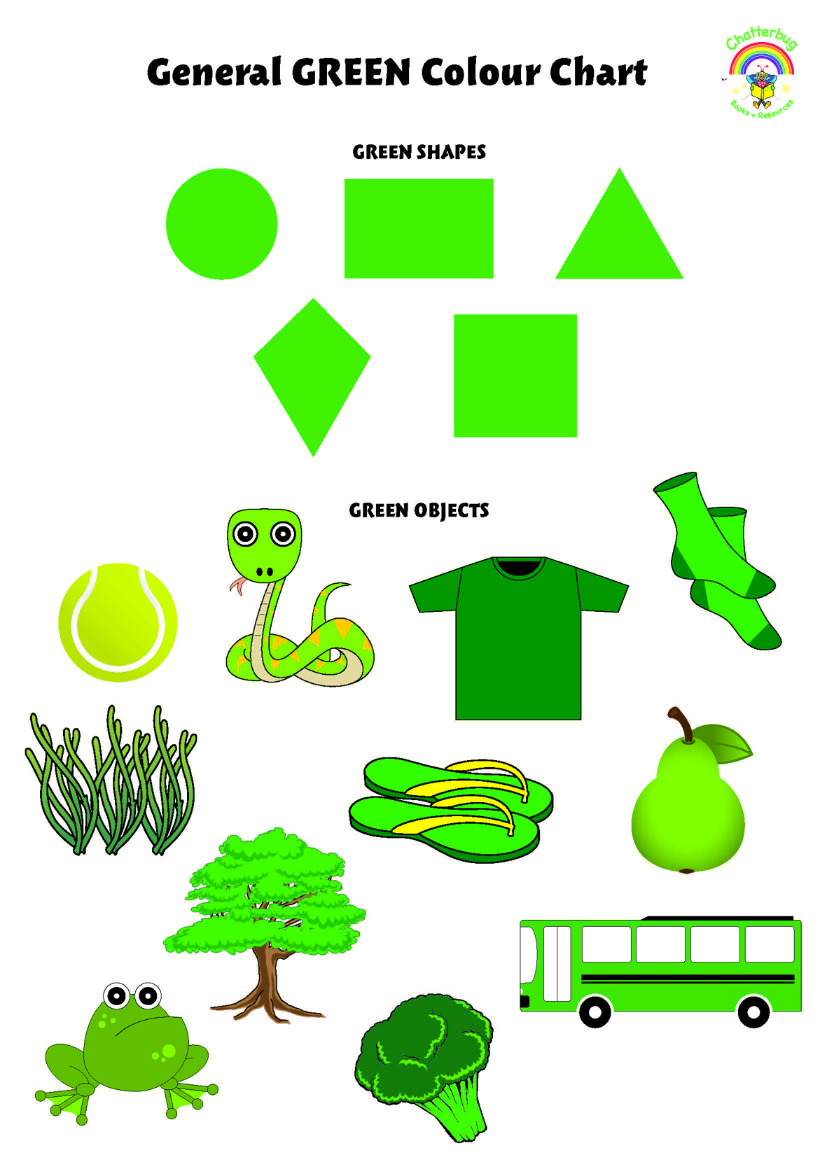 Green Colour Chart