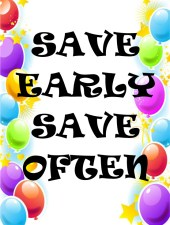 SAVE EARLY SAVE OFTEN