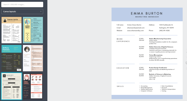 canva-resume