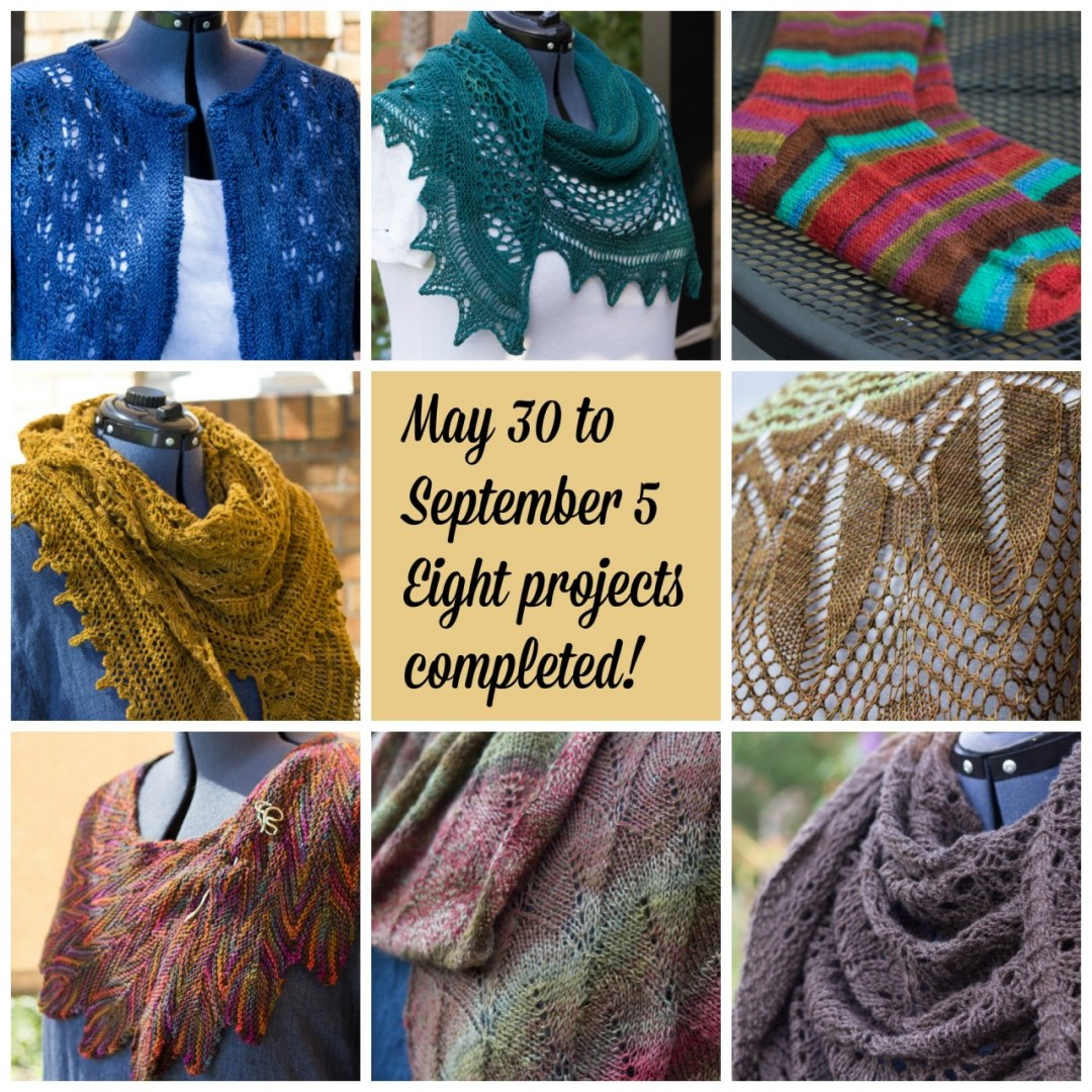 knitting collage