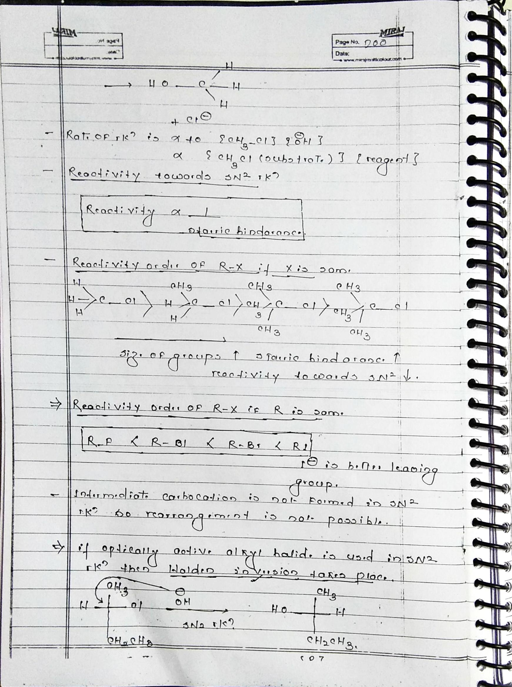 Organic Chemistry Hydrocarbon derivatives part 1 notes for