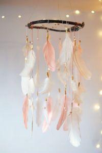 Birthday Decoration : Coral Dreamcatcher Mobile Boho ...