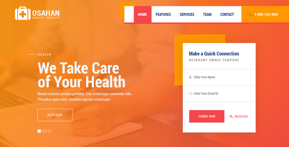 Osahan - Medical Free PSD Template