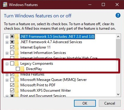 HOW TO ENABLE DIRECTPLAY ON WINDOWS 10 – Ask Caty