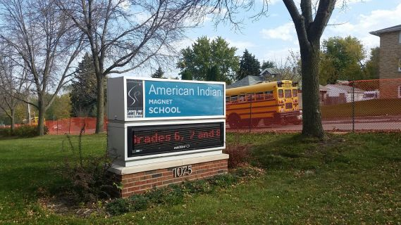 The American Indian Magnet School (AIMS) in St.Paul, Minn. (Next Generation Radio/Angela Nguyen)