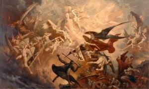 Battle in heaven between Light and Dark