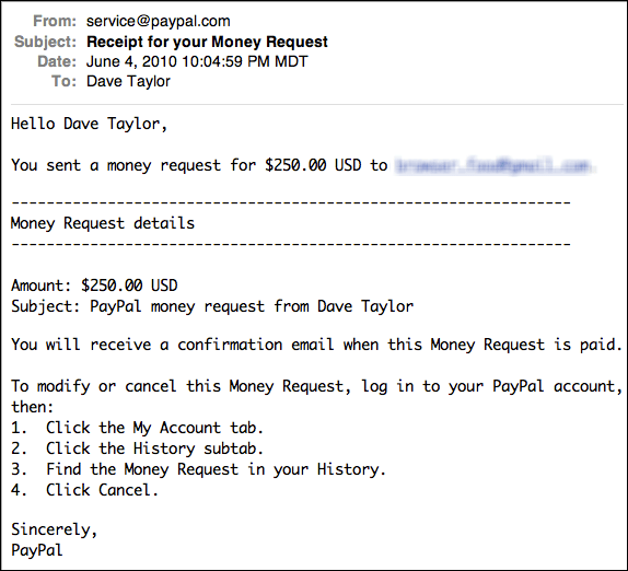 How Do I Request A Payment Via Paypal?  Ask Dave Taylor